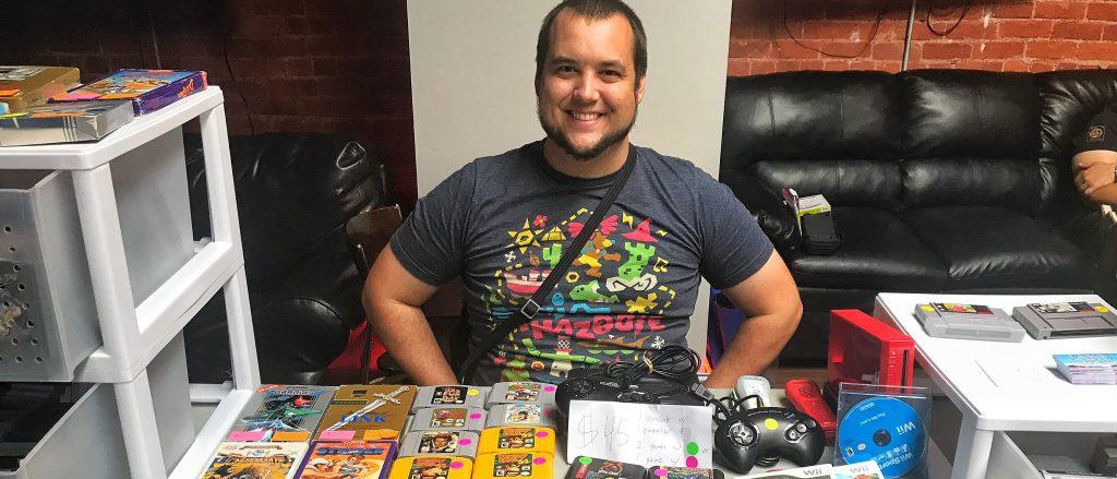 Jake on a Quest booth October 2019 Game Swap 8Bit/Digi