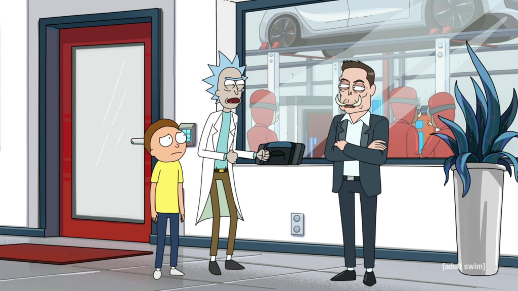 Rick and Morty Season 4 Elon Musk 8Bit/Digi