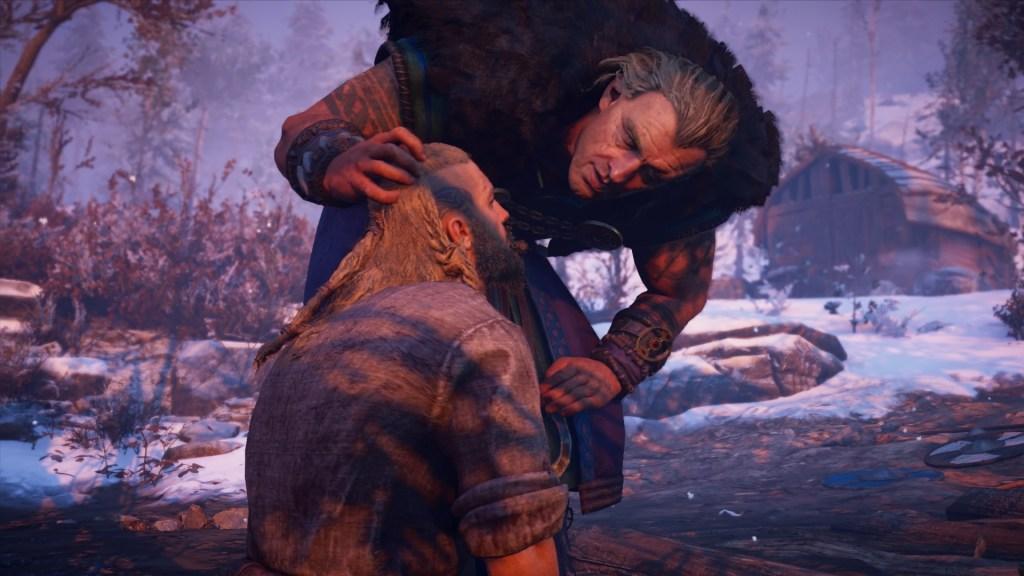 Eivor faces off against Kjotve the Cruel in Assassin's Creed Valhalla. 8Bit/Digi