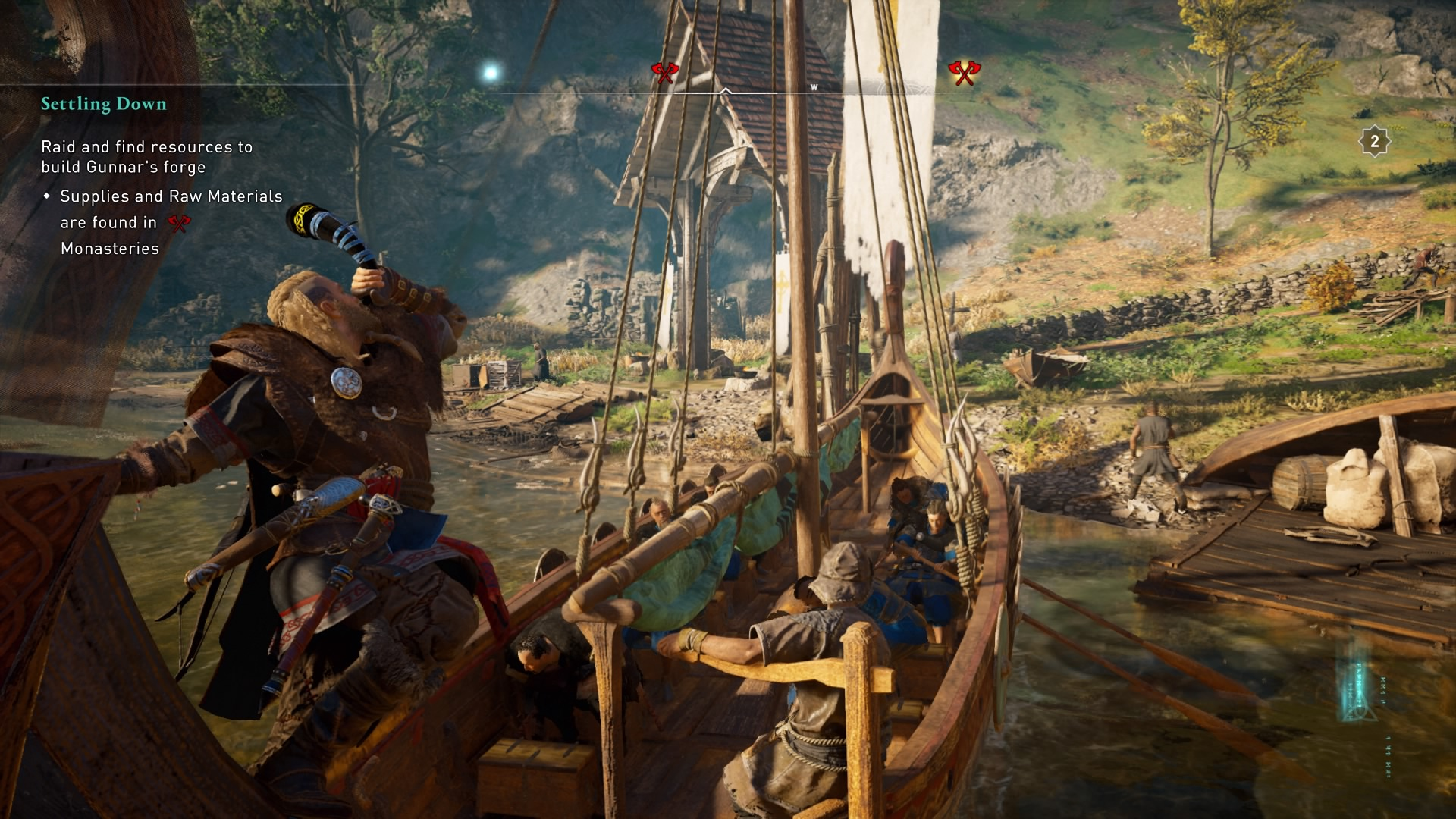 Evior launches a raid in Assassin's Creed Valhalla. 8Bit/Digi