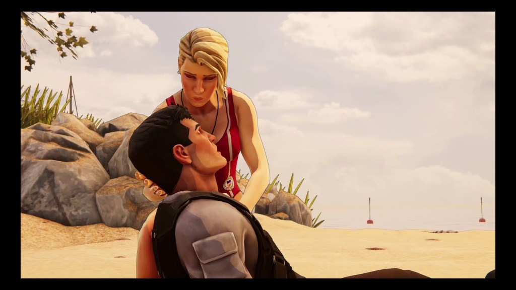 XIII wakes up on the beach in the XIII remake. 8Bit/Digi
